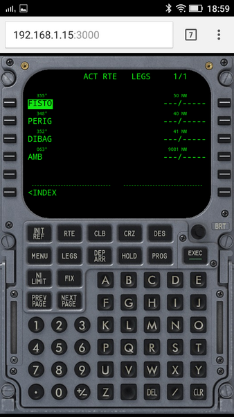 Boeing CDU on Android phone