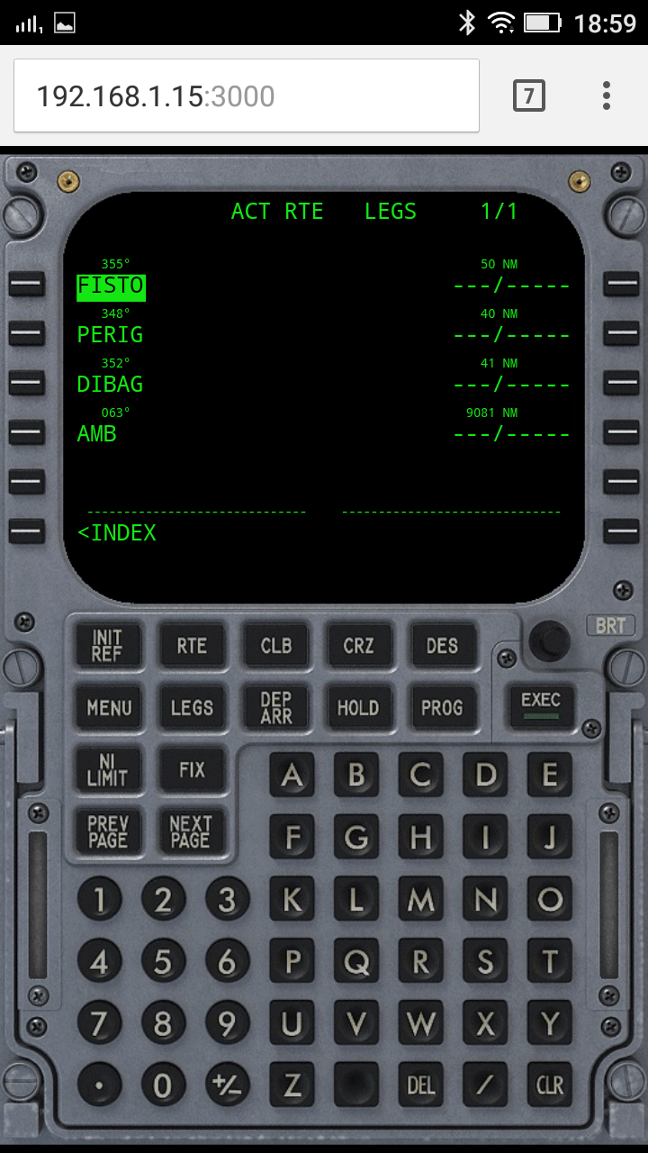 EasyFMC Mobile on Android phone using Chrome